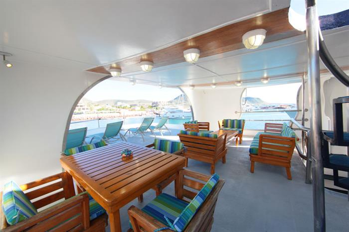 Open air dining area - MV Valentina Liveaboard