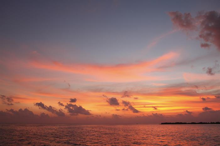 Enjoy spectacular sunsets onboard Fun Azul, Maldives