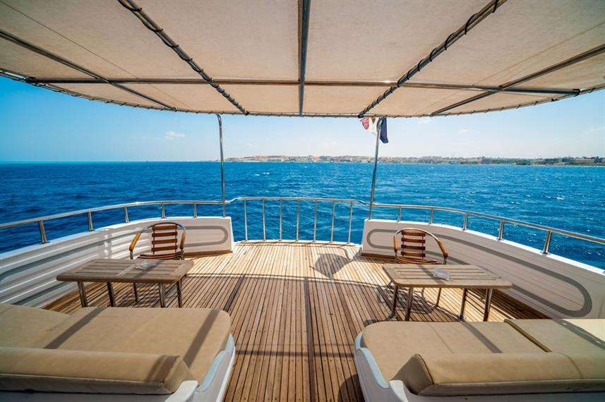 Shaded Sundeck - Golden Dolphin Egypt Liveaboard