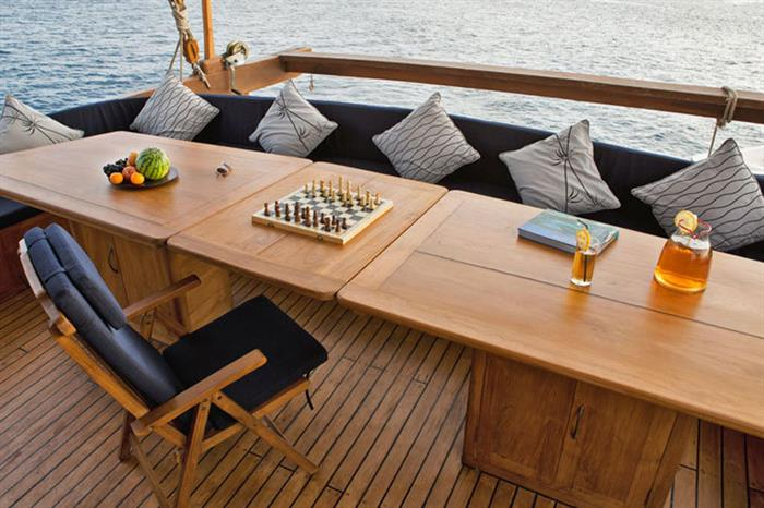 Outdoor relaxation on board the Mantra Liveaboard