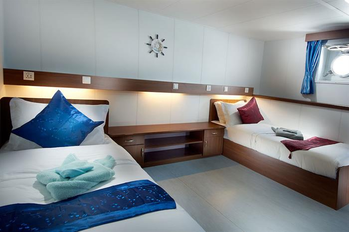 Lower Deck Twin Cabin - French Polynesia Master