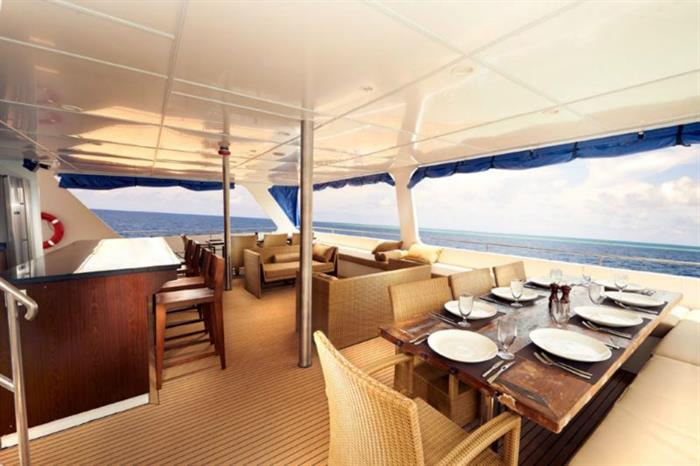 Blue Manta Liveaboard Outdoor Dining