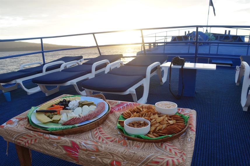 Snacks at Sunset - Bilikiki Liveaboard