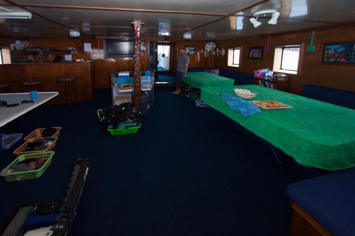 Salon area Bilikiki Liveaboard
