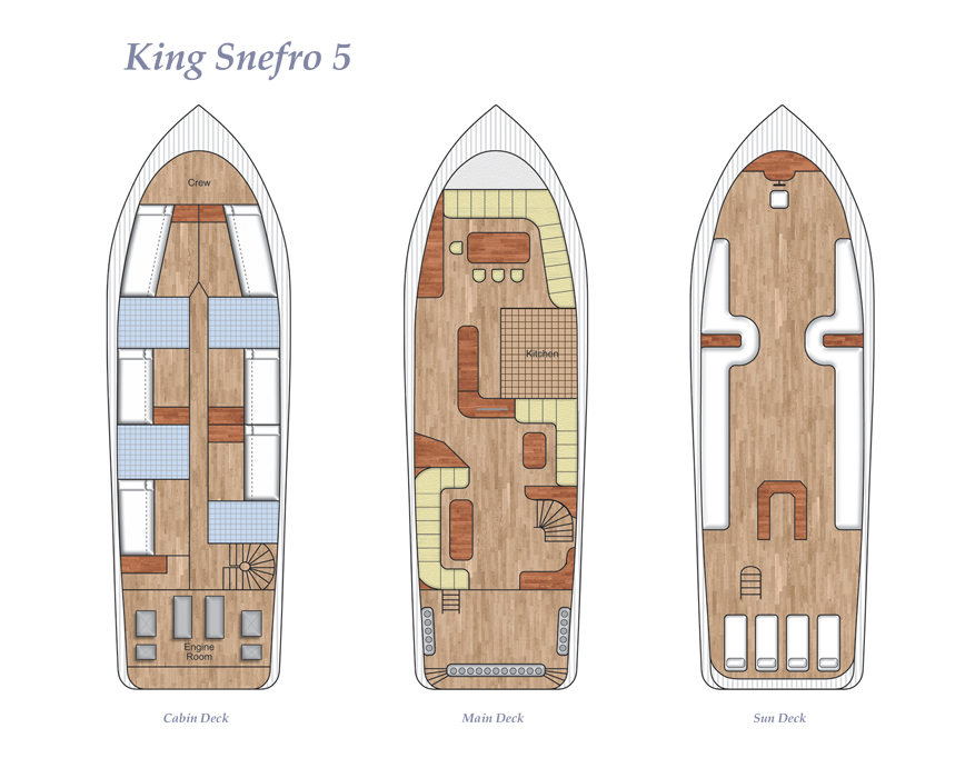 King Snefro 5 Deck Plan Grundriss