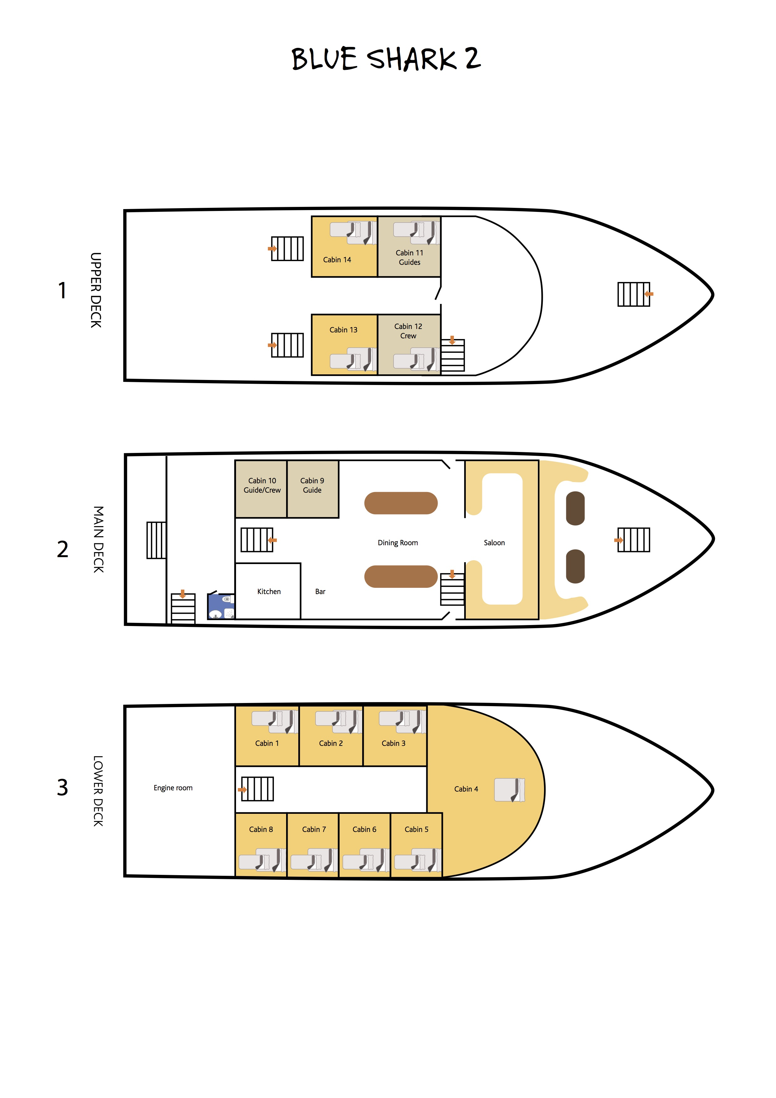 Deck Plan Blue Shark 2 floorplan