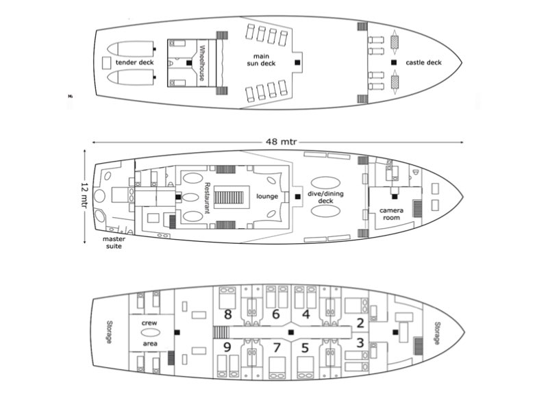 Dewi Nusantara Deck Plan floorplan