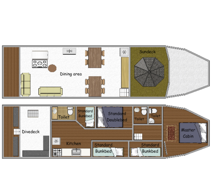 Miss Moon Deck Plan floorplan