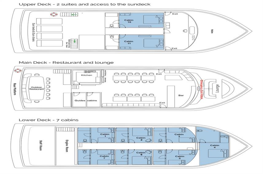 Manta Cruise Deck Plan Grundriss