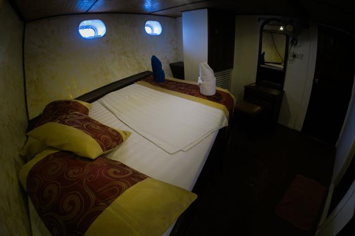 Standard Room aboard the Manta Cruise Liveaboard