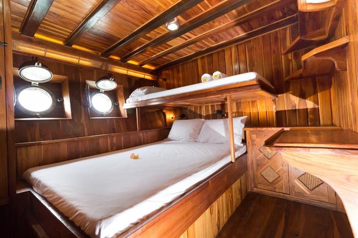 Our lower deck deluxe cabin