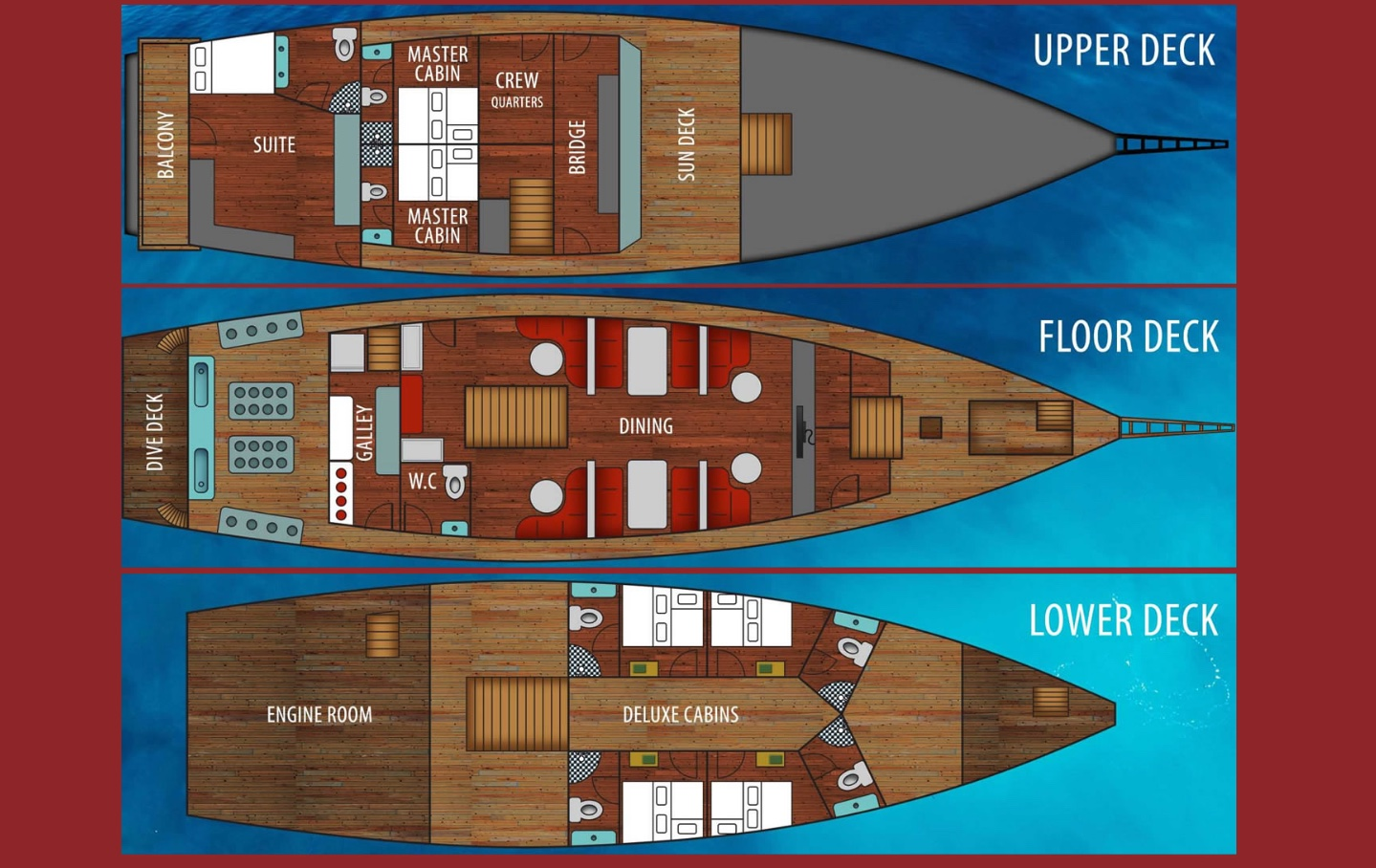 La Galigo Deck Plan floorplan