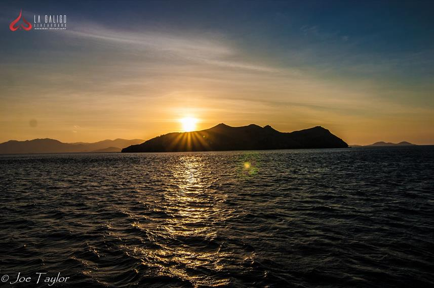 Sunset over Komodo