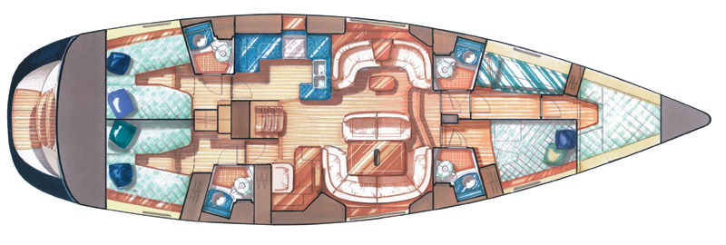 Vision III Liveaboard Cuba Layout Grundriss