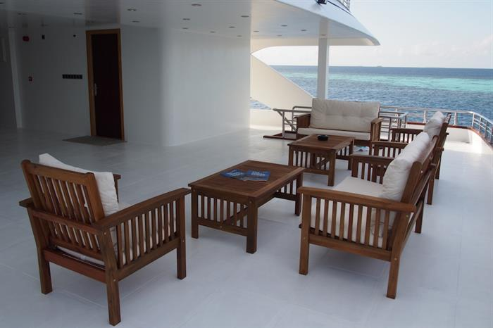 Relaxing Deck Space - Emperor Serenity Maldives