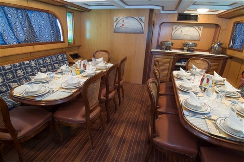 MY Dreams Liveaboard Red Sea Dining Area