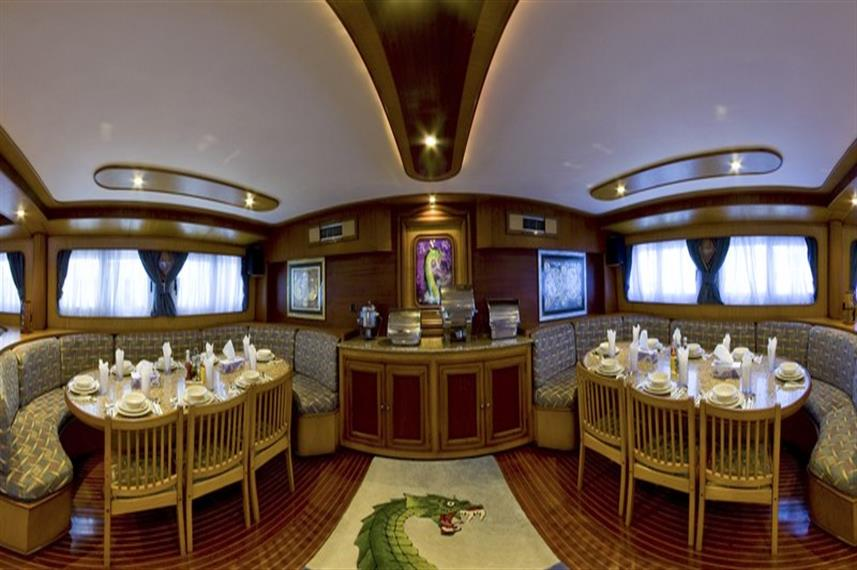 MY Excellence Liveaboard Red Sea Dining Area