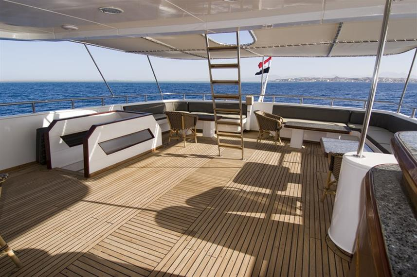 MY Excellence Liveaboard Red Sea Sundeck