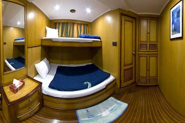 MY Excellence Liveaboard Red Sea Bunk Cabin
