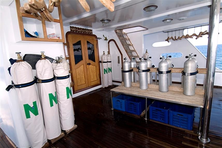 MY Miss Nouran Liveaboard Red Sea Dive Deck
