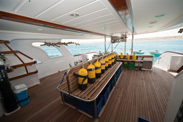 M/Y Obsession Liveaboard Red Sea Dive Deck