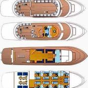 M/Y Obsession Liveaboard Red Sea Boat Plan floorplan