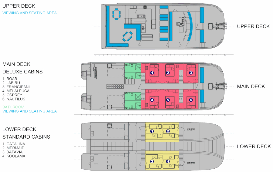 MV Odyssey Deck Plan floorplan