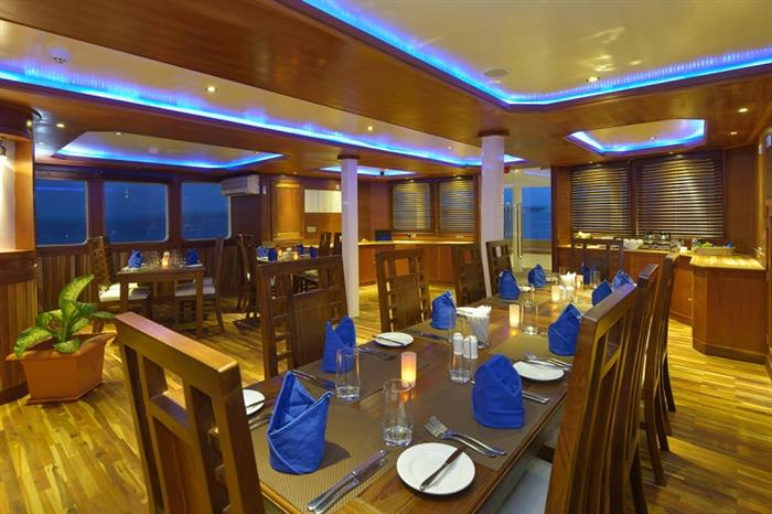 MV Maldives Princess Liveaboard Dining Room