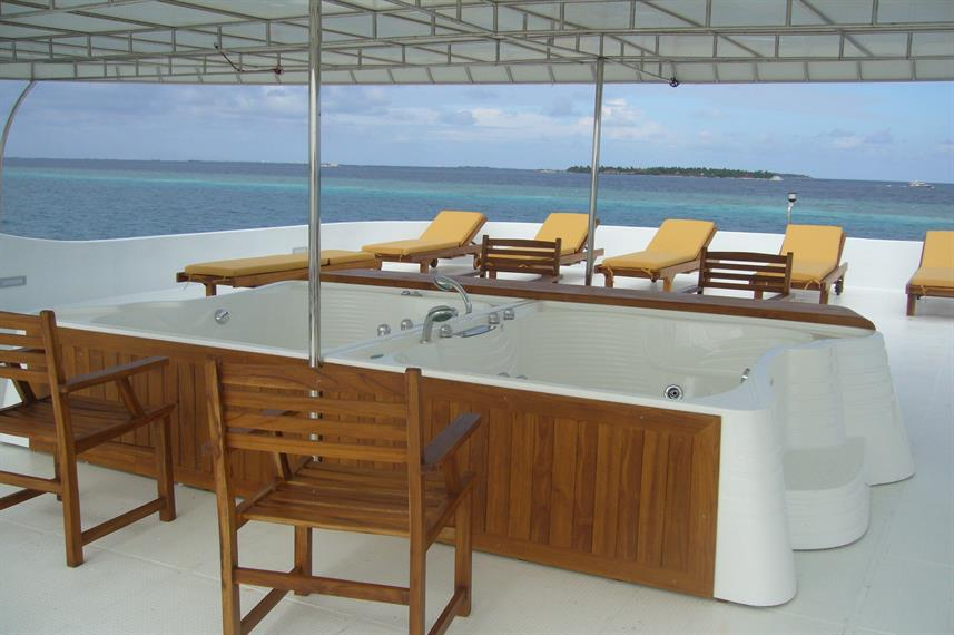 Hot Tub - Princess Haleema Liveaboard Maldives