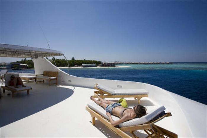 Sundeck aboard the Princess Haleema Liveaboard Maldives