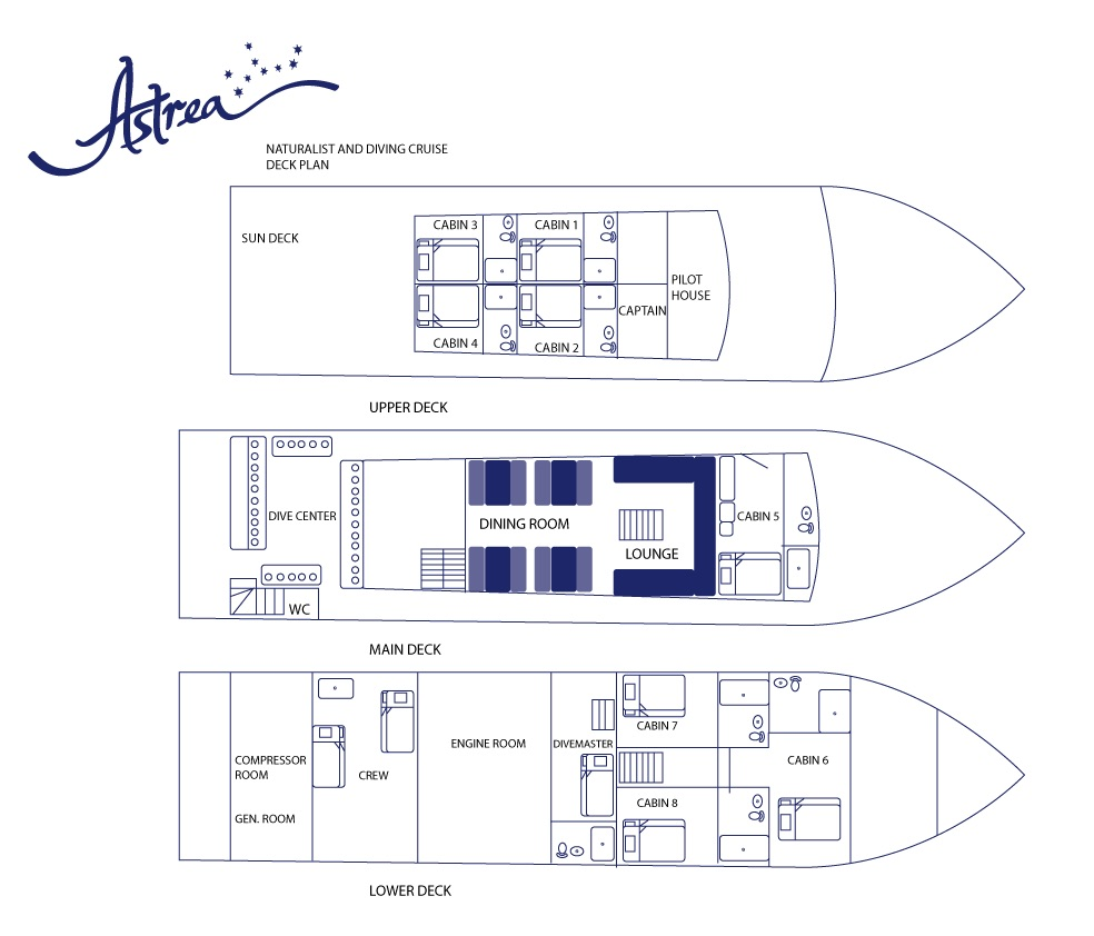 Astrea Deck Plan floorplan