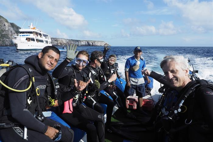 On the way to dive - Astrea Galapagos