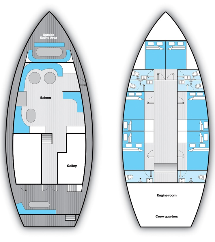 Sea Spirit Deck Planplattegrond