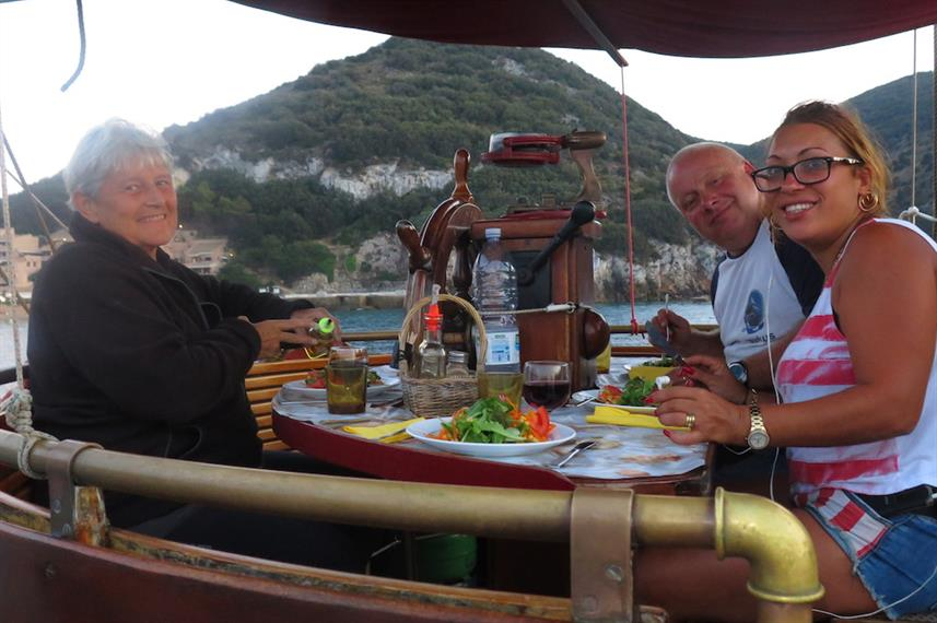 Dining on the Norseman Liveaboard