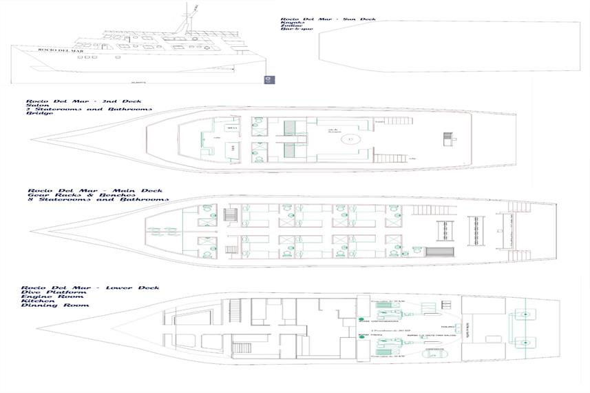 Rocio Del Mar Deck Plan floorplan