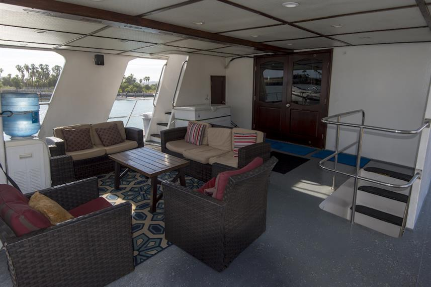 Outdoor Lounge - Rocio del Mar Live Aboard