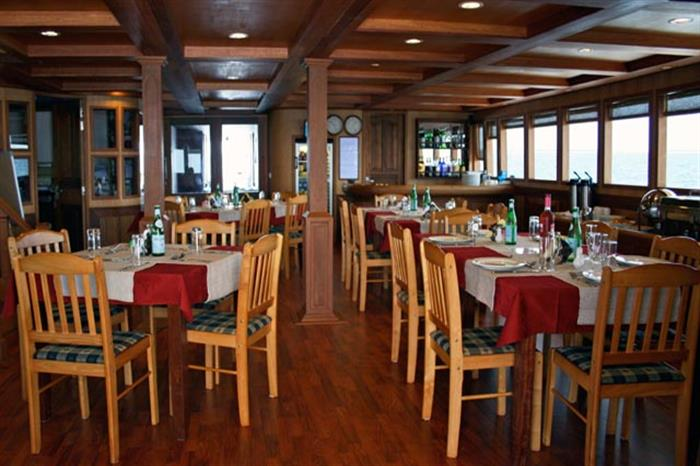 Indoor Dining Area - Sachika Liveaboard