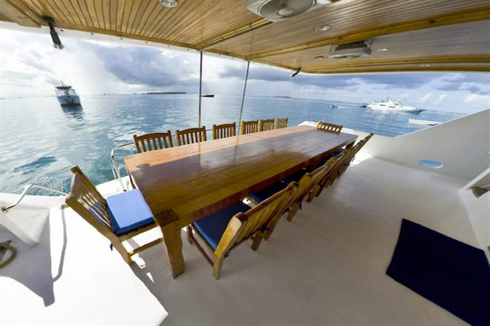 Back Deck Area - Moonima Liveaboard