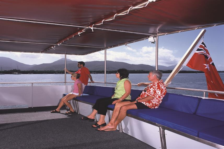 Upper Deck Shaded Seating Area