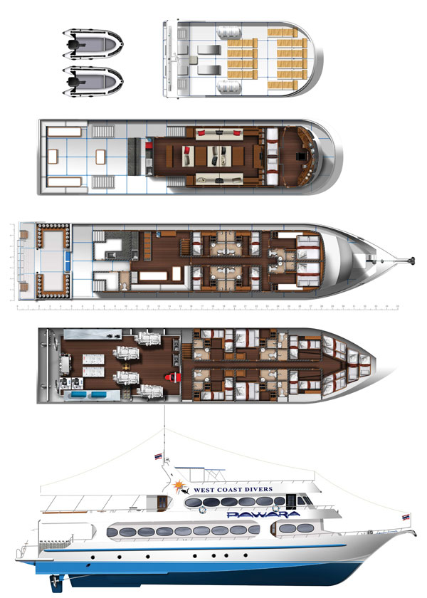 MV Pawara Deck Plan plan