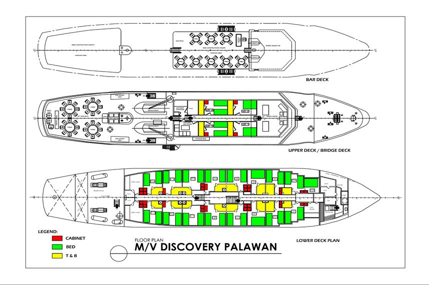 MV Discovery Palawan Deck Plan floorplan