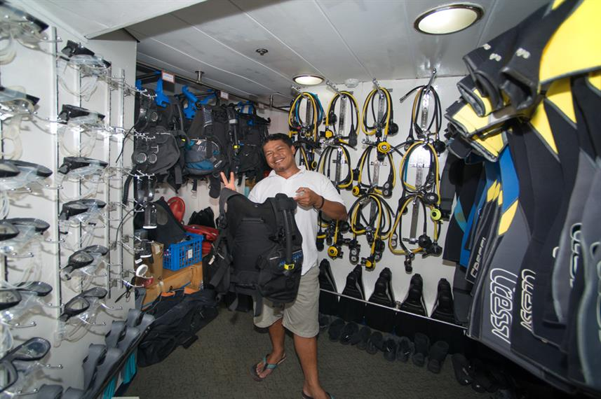 Dive equipment onboard - MV Discovery Palawan