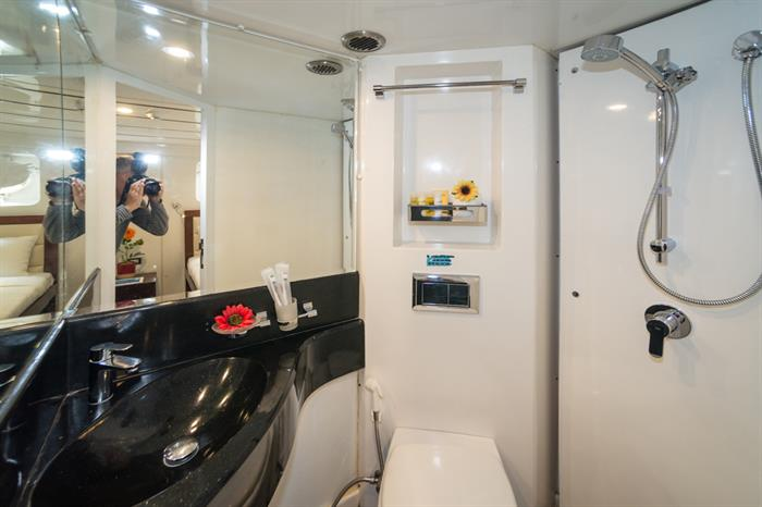 MV Discovery Palawan - Standard room bathroom