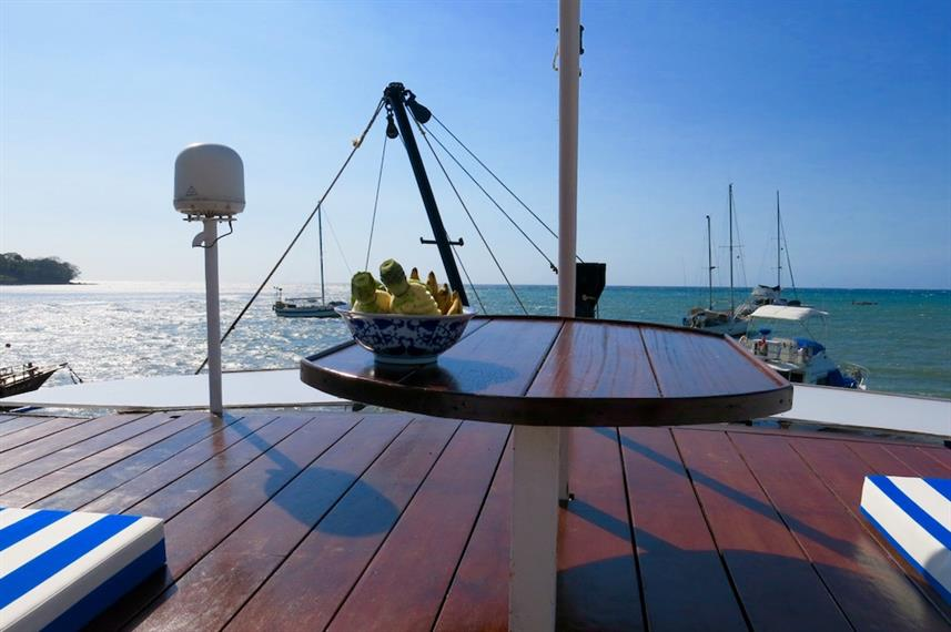 Sun deck - MV Empress II Indonesia