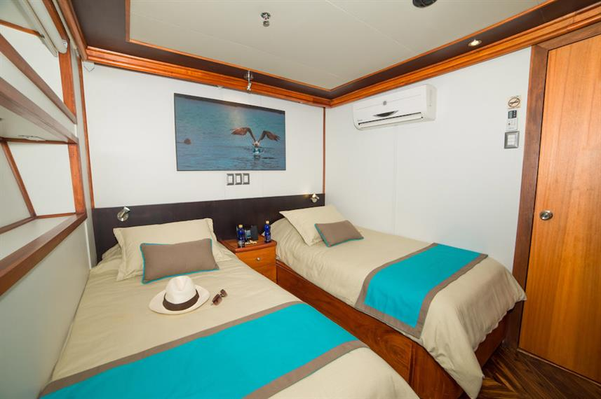 Lower deck twin room - Majestic Galapagos Yacht