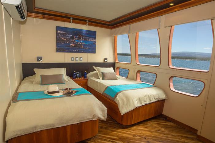 Upper deck twin cabin - Majestic Galapagos Yacht