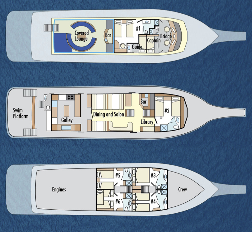 Reina Silvia Deck Plan floorplan