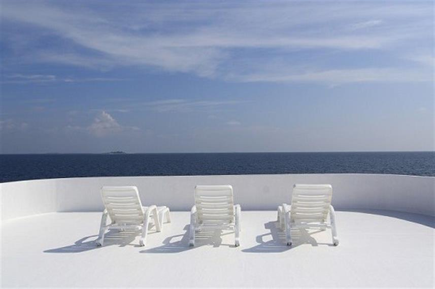 Sun deck - MV Ari Queen