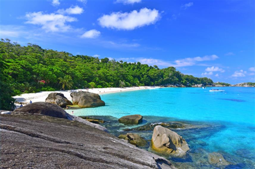 Beautiful blue waters of the Similan Islands