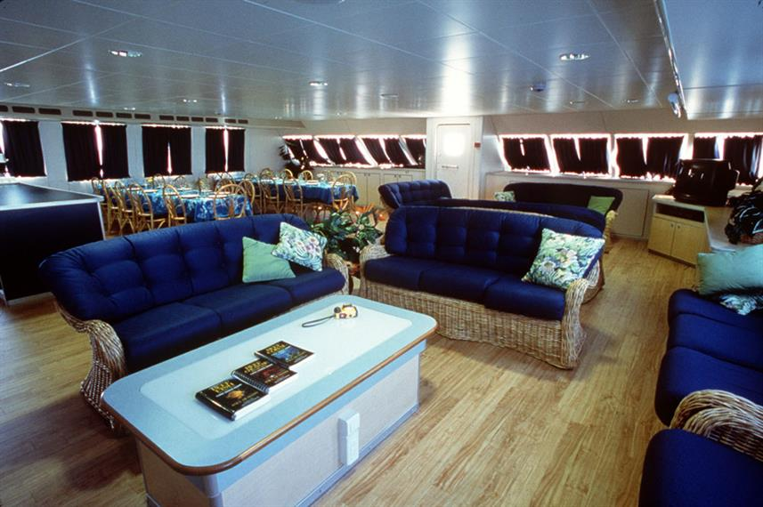 Indoor salon - Aqua Cat Liveaboard